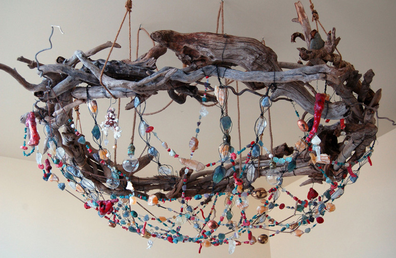 Tracey barnes art chandelier bower bird nest chandelier aloadofball Gallery